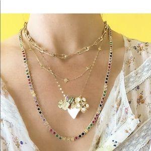 "Melinda Maria rainbow baroness necklace 21.5"" new"